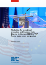 Modalities for investment protection and Investor-State Dispute Settlement (ISDS) in TTIP from a trade union perspective