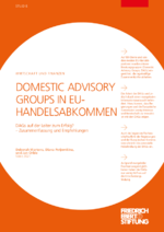 Domestic advisory groups in EU-Handelsabkommen